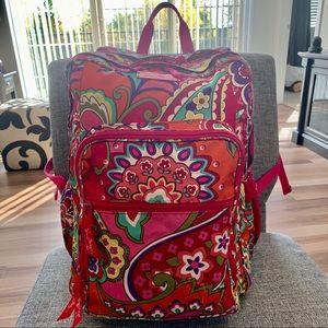 Vera Bradley L Lighten Up Backpack Pink Swirls